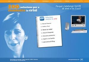 Imatge del web de la campanya