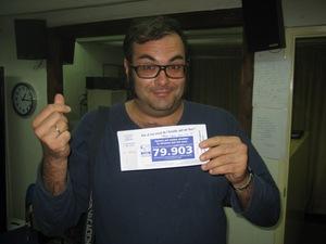 Ariel Santamaria amb la participació de loteria